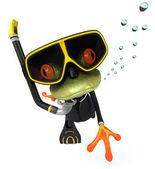Frog scuba diver — Stock Photo