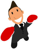 Businessman boxing — Stock Photo