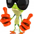 Frog with sunglasses — Stock Photo