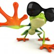 Frog with sunglasses — Stock Photo #7111450