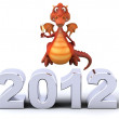Dragon and 2012 — Stock Photo