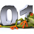 Stock Photo: Frog and 2012