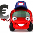 Car and euro — Stock Photo #7298741