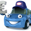 Car and euro — Stock Photo