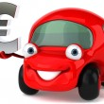 Car and euro — Stock Photo #7298818