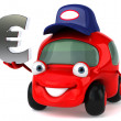 Car and euro — Stock Photo #7298823