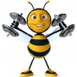 Stock Photo: Strong bee