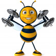 Strong bee - Stock Photo