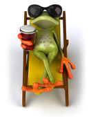 Frog with glasses — Stockfoto
