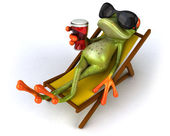 Frog with glasses — Stock Photo