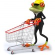 Frog worker — Stock Photo