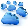 Cloud computing concept, 3d generated illustration — Stock Photo