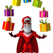 Super Santa Claus — Stock Photo