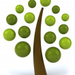 Tree of drops 3d — Stockfoto