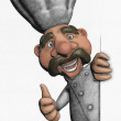 Stock Photo: Chef illustration