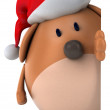 Christmas dog 3d — Stock Photo