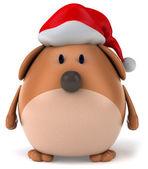Weihnachten hund 3d — Stockfoto