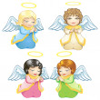 Little angels — Stock Vector