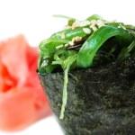 ������, ������: Maki sushi with green seaweed