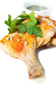Roasted chicken legs — Stockfoto