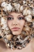 Fur around the face — Stock Photo