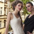 Stock Photo: Beautyful women elegant dressed outside