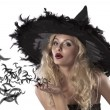 Portrait of a cute and sexy witch — Stock Photo #7127265