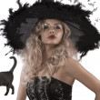 Stock Photo: Portrait of beautiful witch