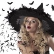 Portrait of a cute and sexy witch — Stock Photo #7127337