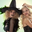 Stock Photo: Two black witch party