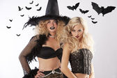The two dark magic witches — Stock Photo