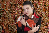 The autumn lady — Stock Photo