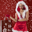 Sexy santa claus girl — Stock Photo