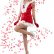 Red and sexy santa claus girl - Stock Photo