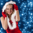 Christmas young woman with hoodie - Stock Photo