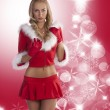 Blond sexy christmas lady — Stock Photo #7496189