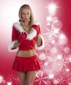 Blond sexy christmas lady — Stock Photo