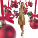 Elegant girl dressed for christmas — Stock Photo #7562101