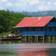House over the water in Bocas del Toro — Stock Photo