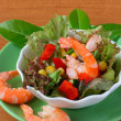 Stock Photo: Vegetable salad with seafoods