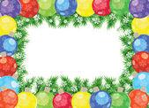 Christmas balls frame — Stock Vector