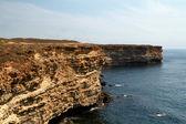 Rocky cliffs, the Black Sea coast — Stock Photo