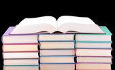 Bücher von verschiedenen farben. — Stockfoto