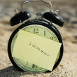 Clock at beach — Stockfoto