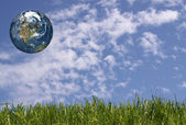 Earth in the sky — Stock Photo