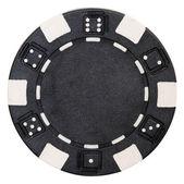 Black poker chip — Stock Photo
