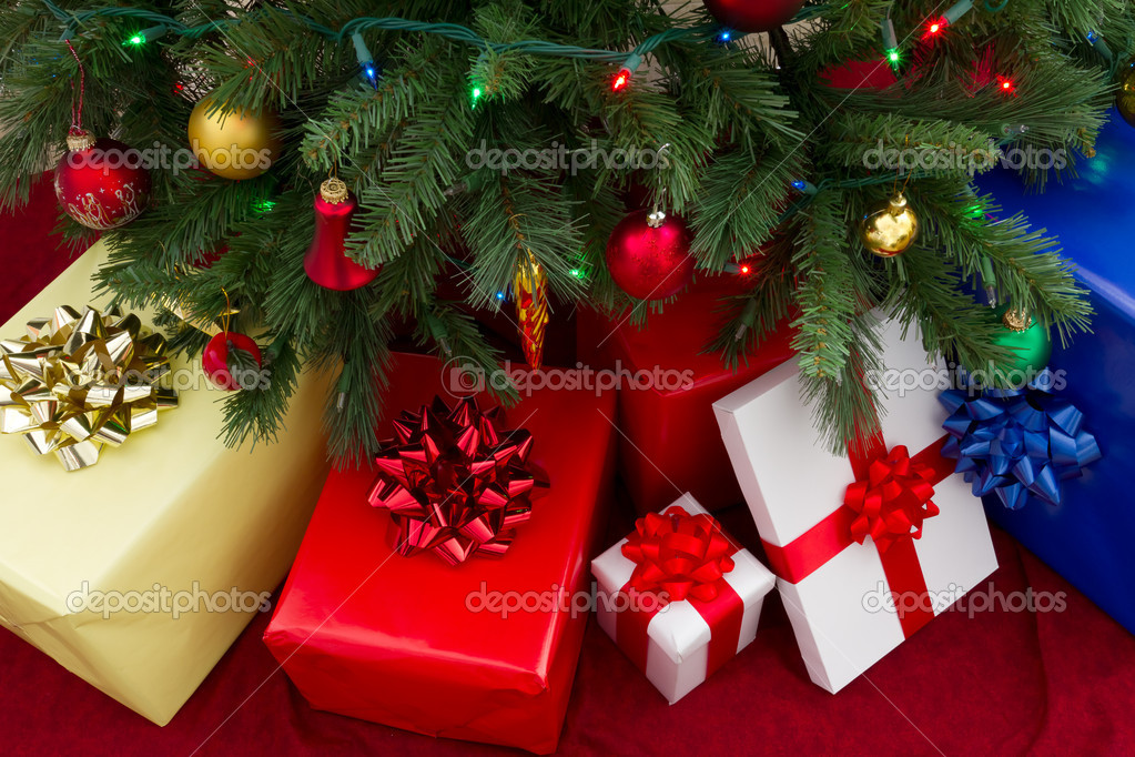 Gifts under christmas tree — Stock Photo #7590410