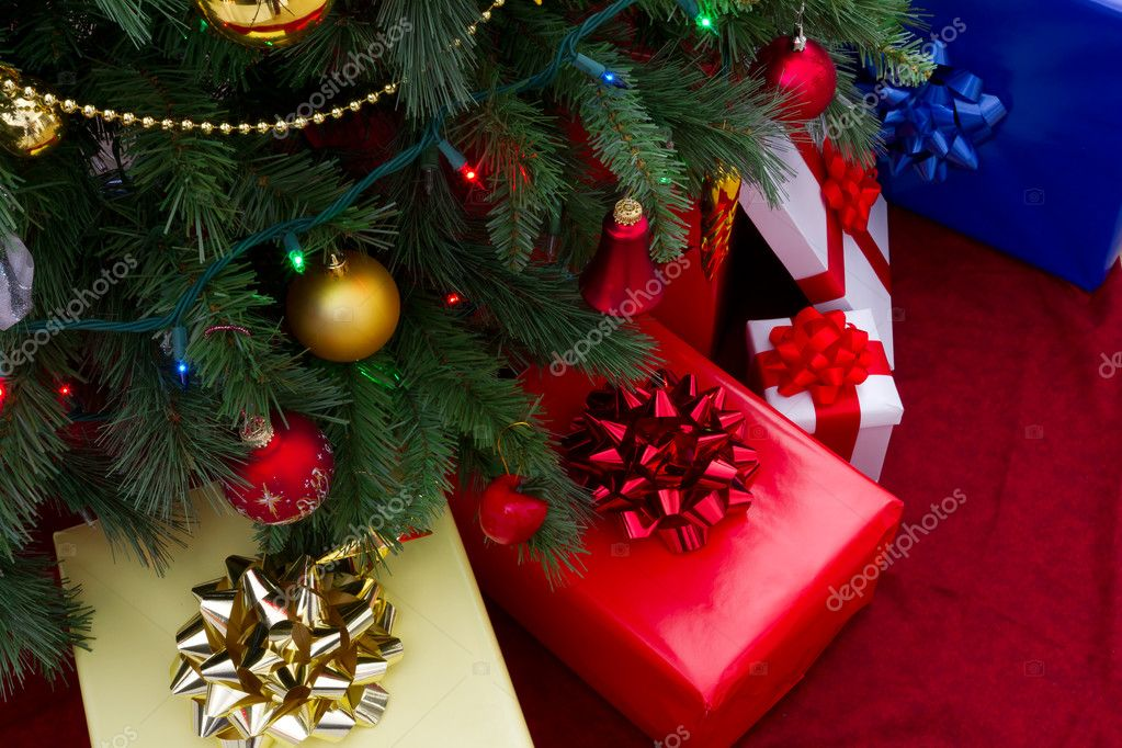 Gifts under christmas tree — Stock Photo #7590486