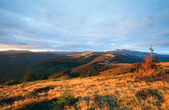Autumn evening mountain plateau landscape — Stock Photo