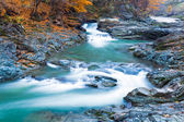 Waterfalls on Rocky Autumn Stream — Stock Photo